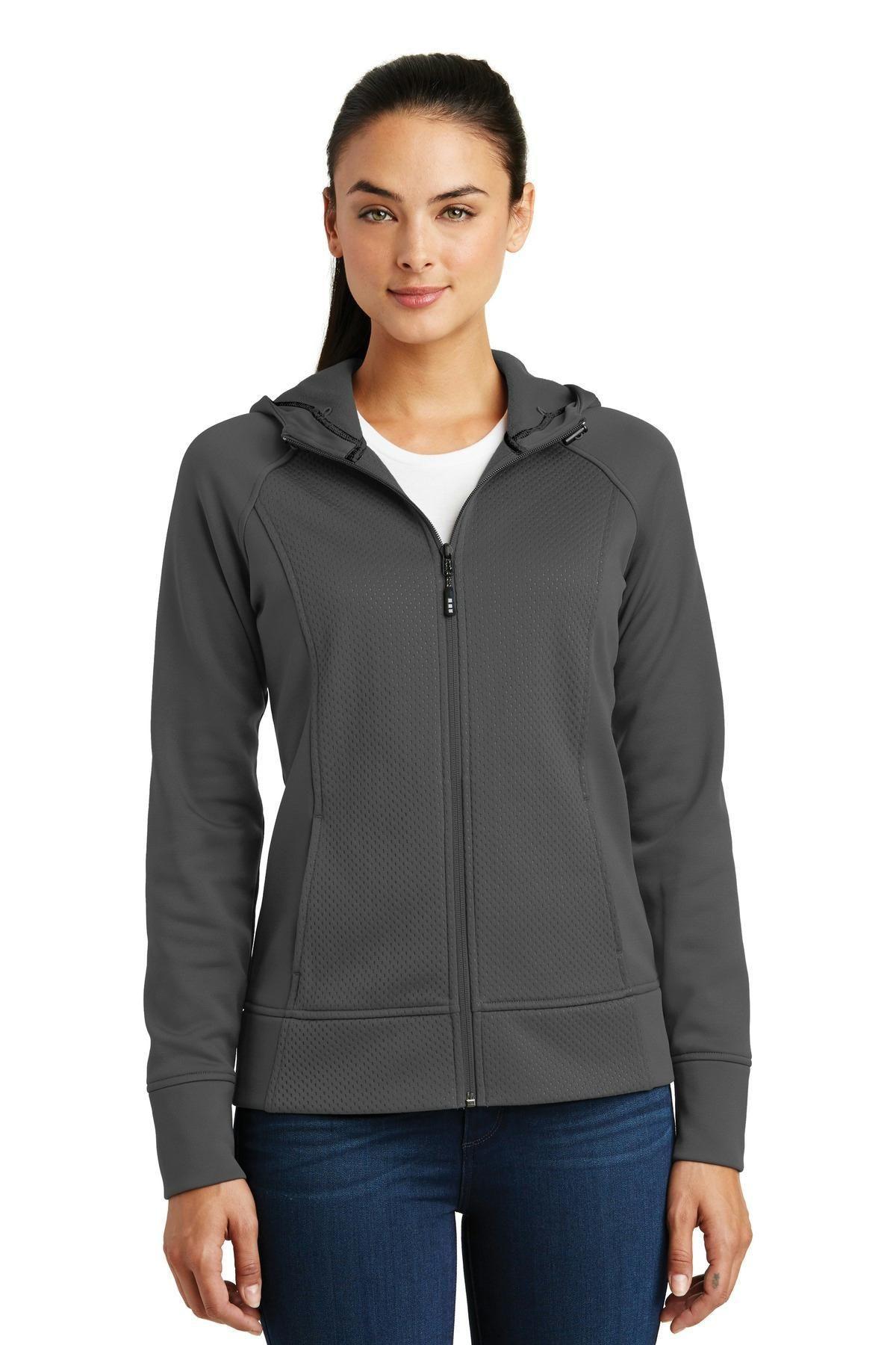 SportTek Ladies Rival Tech Fleece FullZip Hooded Jacket