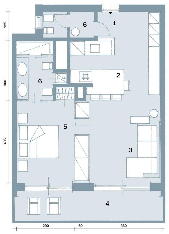 In 57 Mq Due Bagni Per La Casa Dagli Incastri Perfetti Planimetrie Di Case Piantine Di Case E Design Appartamento Piccolo