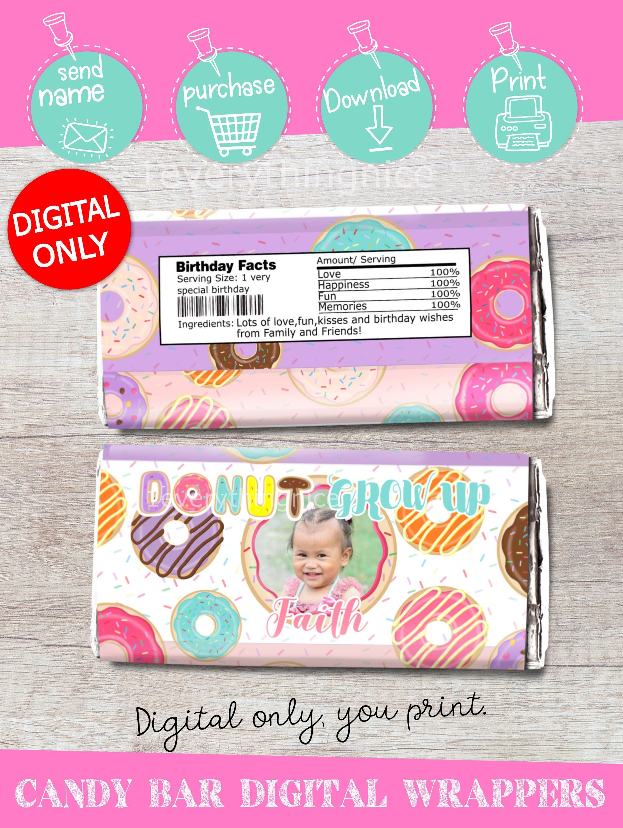 Digital Download Donut Grow Up Donuts Candy Chocolate