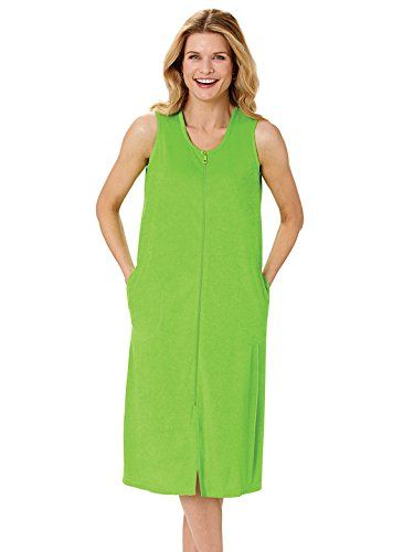 0bc53ffa9c Terry Zip Front Dress Sizes S M L 39 long Color Kiwi Size SM -- Want to  know more