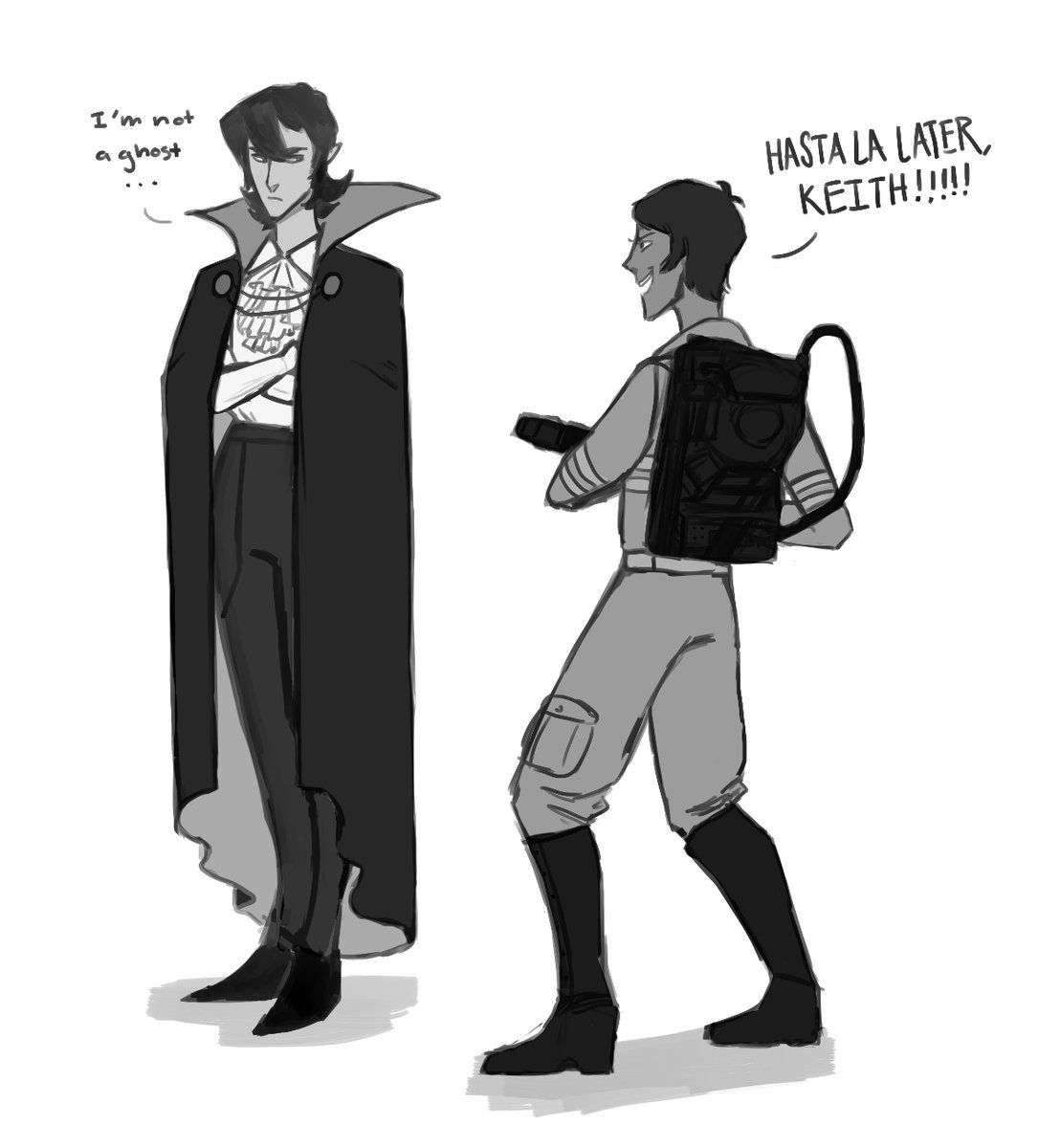 keith & lance in halloween costumes