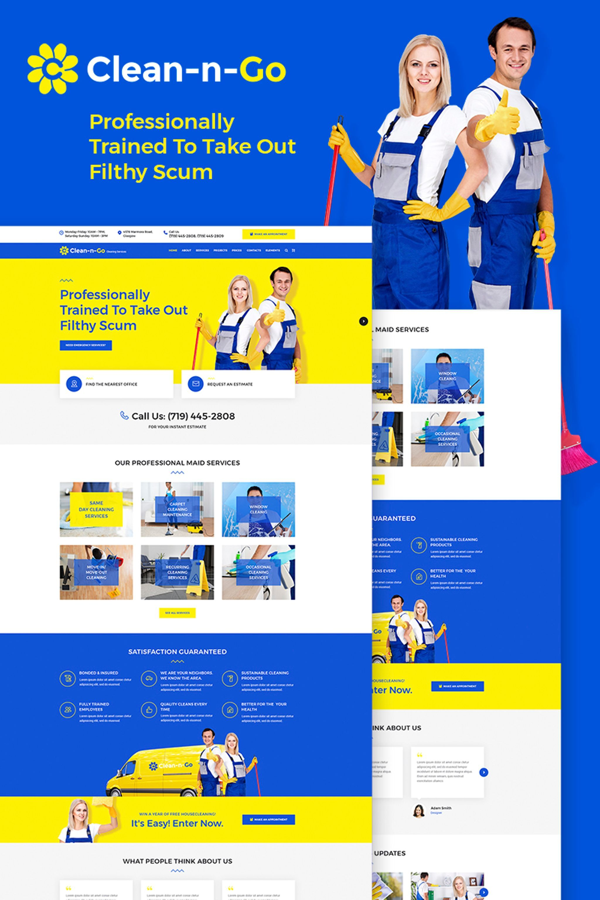 Clean N Go Cleaning Services Wordpress Theme Design Bundle