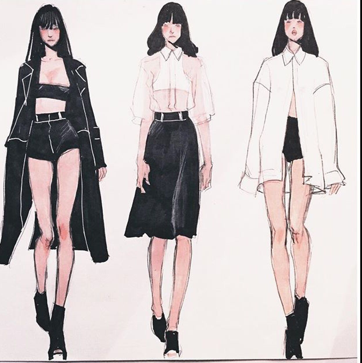 Line Art Fashion Design : Fashion illustration inspire pinterest