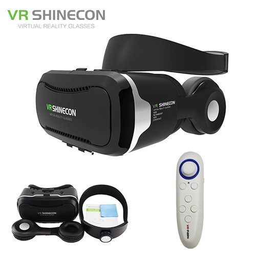 0f44377dddd Stereo VR Shinecon 4.0 Google Cardboard 3D Glasses Virtual Reality Headset  box for 4-5.5  Mobile Phone + Update Remote Control