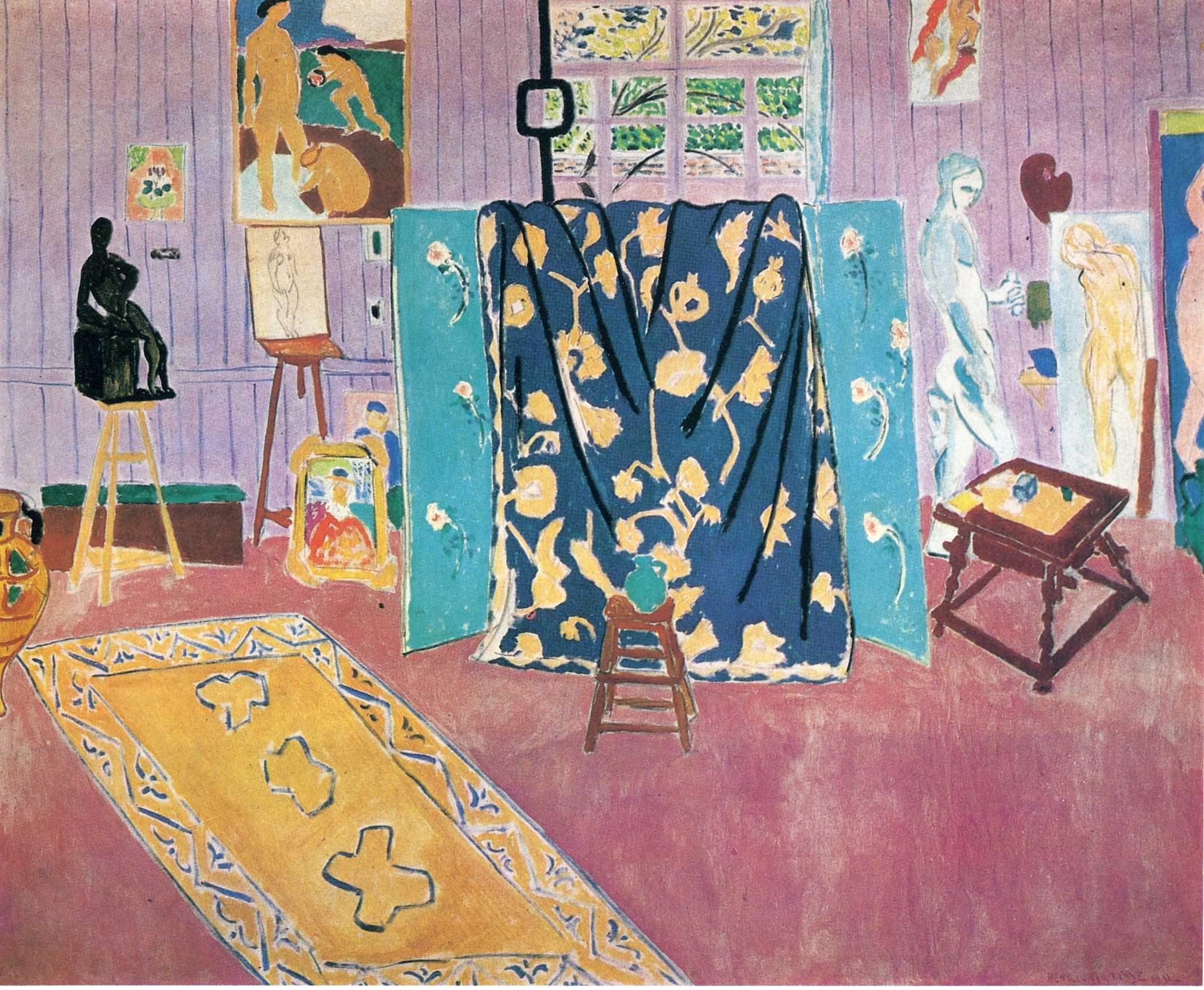 matisse the pink studio dix neuf pinterest atelier. Black Bedroom Furniture Sets. Home Design Ideas
