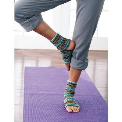 Free Knitting Pattern Yoga Socks Toeless And Heelless On