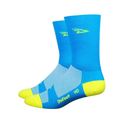 DeFeet AirEator HiTop Hi-Vis D-Logo Cycling//Running Socks AIRTHV