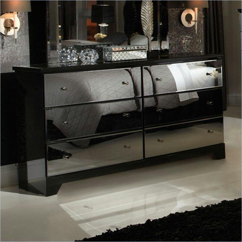 Parisian 6 Drawer Mirror Dresser In