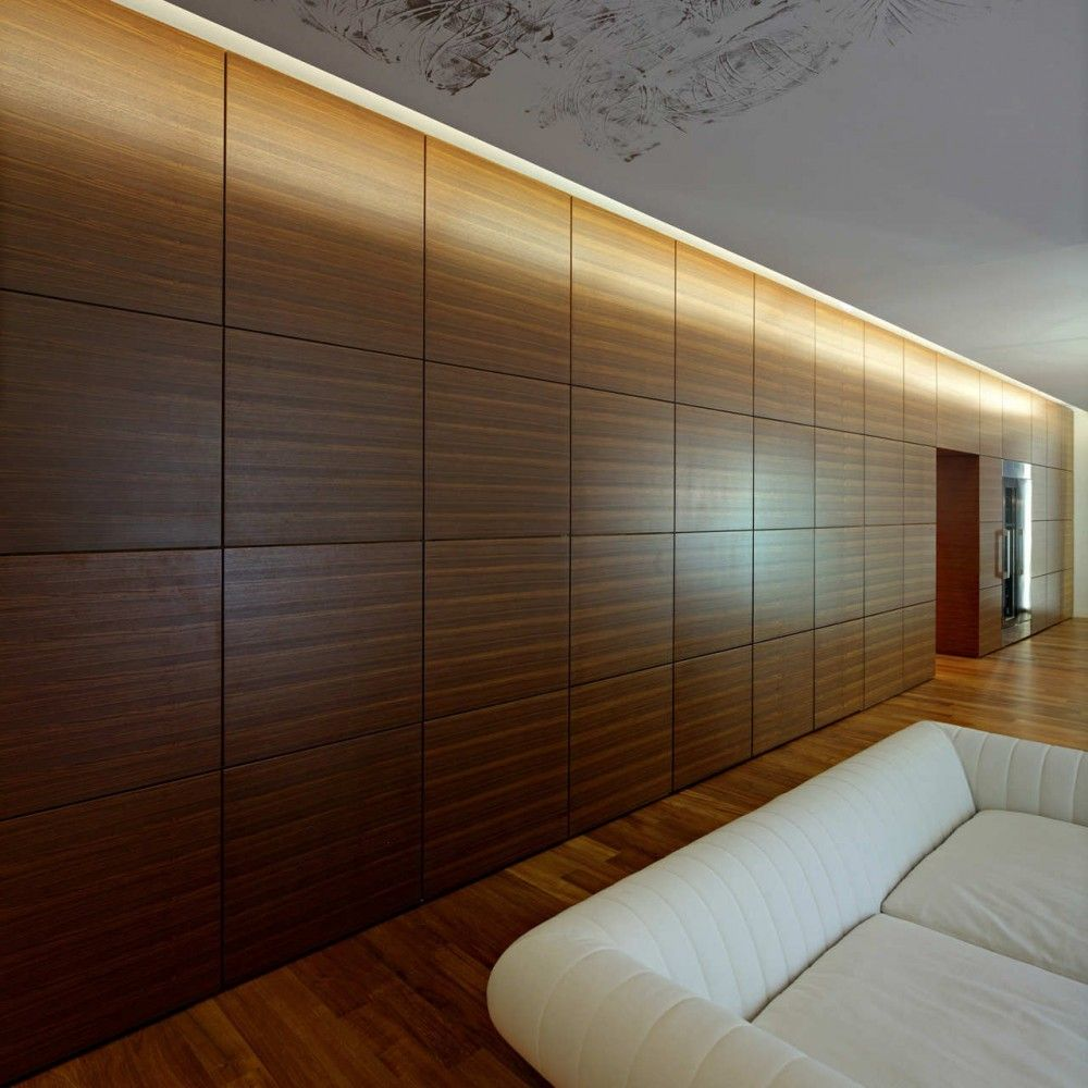 Downtown Apartment In Zagreb Dva Arhitekta D O O Interior Wall Design Wood Interior Walls Wall Cladding Designs