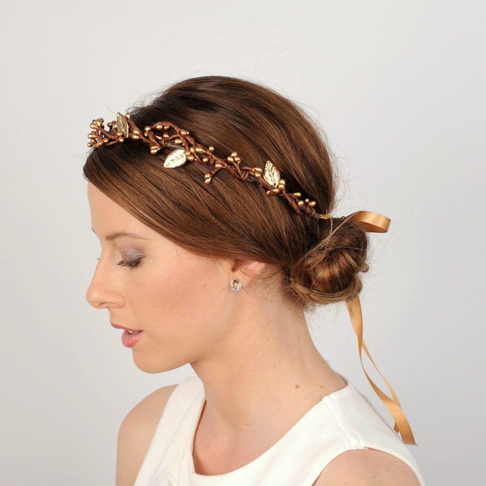 autumn hair wreath twig and branch headpiece woodland wedding