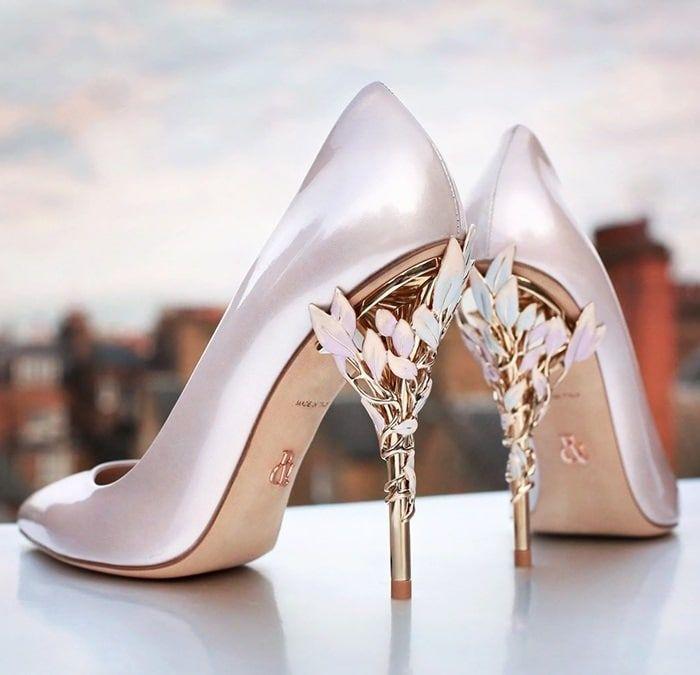 Ralph \u0026 Russo Eden pumps | Pink wedding