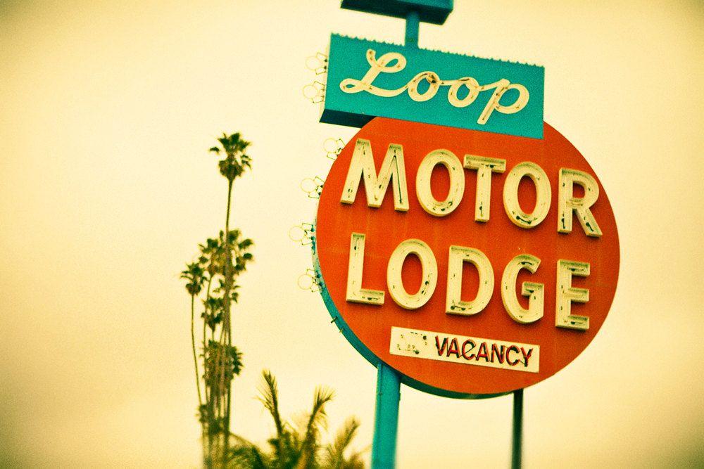 Loop Motor Lodge Neon Sign | Googie Retro Home Decor | Midcentury ...