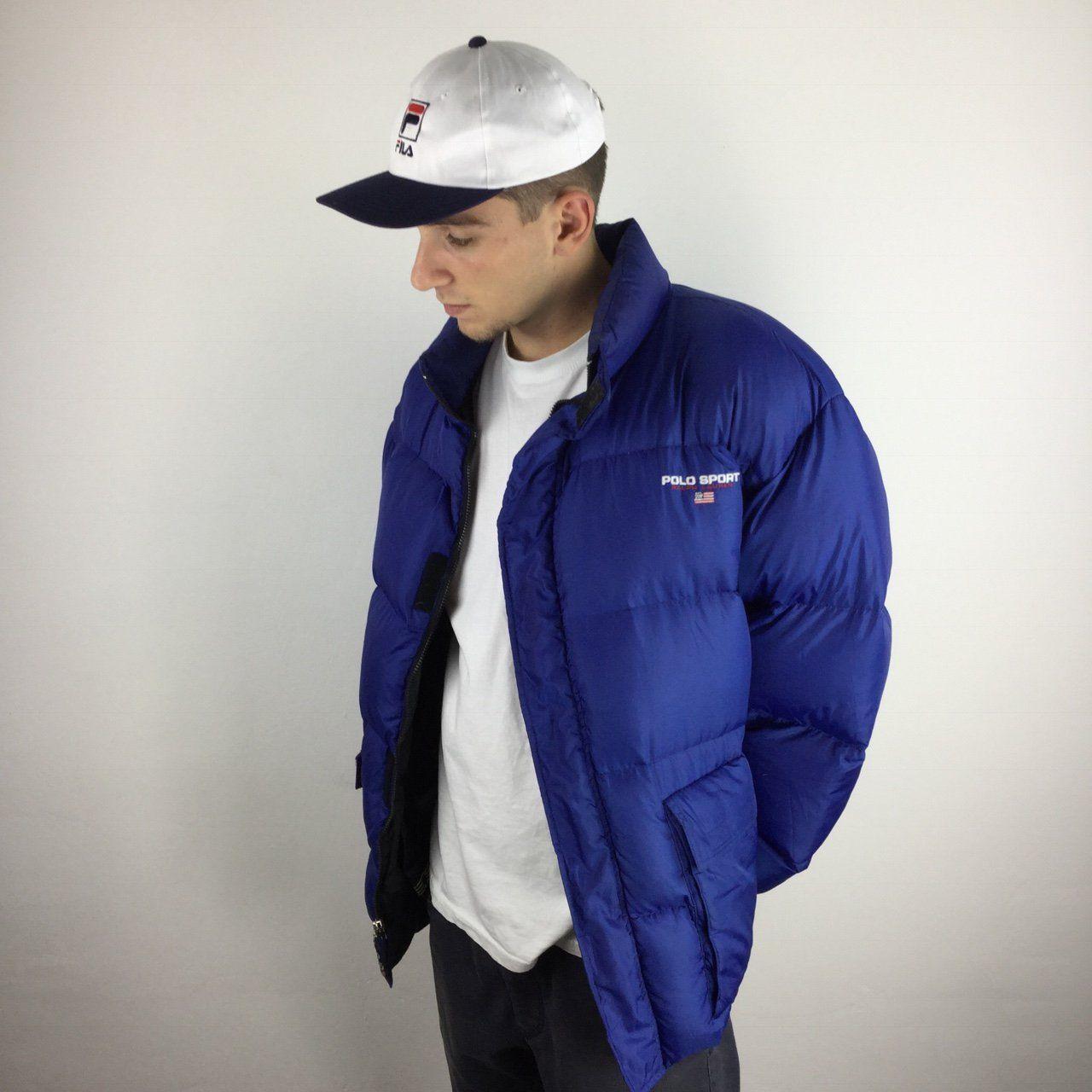 Ralph Lauren Polo Sport puffer in blue Nike jacket