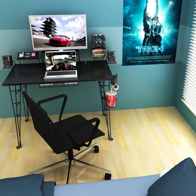 Amazon Com Atlantic Gaming Desk Gaming Computer Desk Kitchen Dining Gaming Desk Gaming Computer Desk Gaming Desk Setup