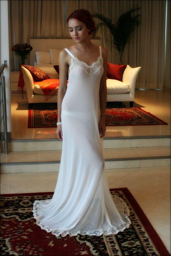 Bridal Nightgown Backless Bridal Lingerie Sleepwear Wedding Lingerie ...