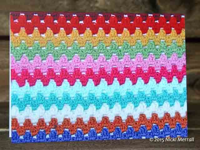 Granny Stripes greeting card #greetingcard #crochet #grannystripes #BeingKnitterlycard