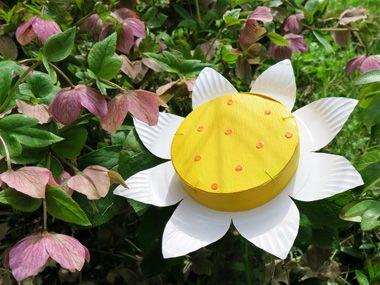 fabriquer une belle fleur avec une assiette en carton et. Black Bedroom Furniture Sets. Home Design Ideas