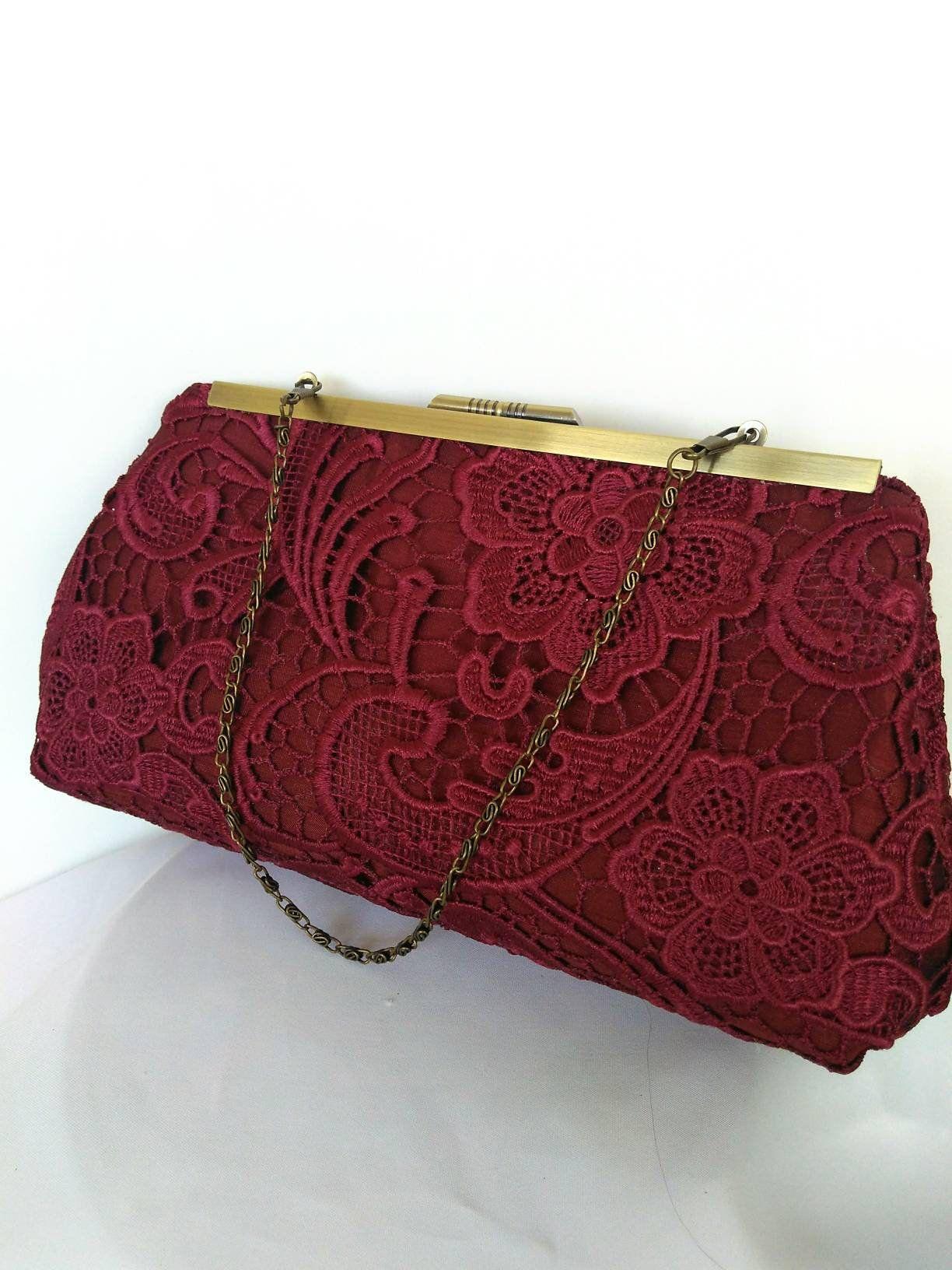 75ca36c85d8d Burgundy lace bridal purse--wine evening purse--- burgundy cocktail ...