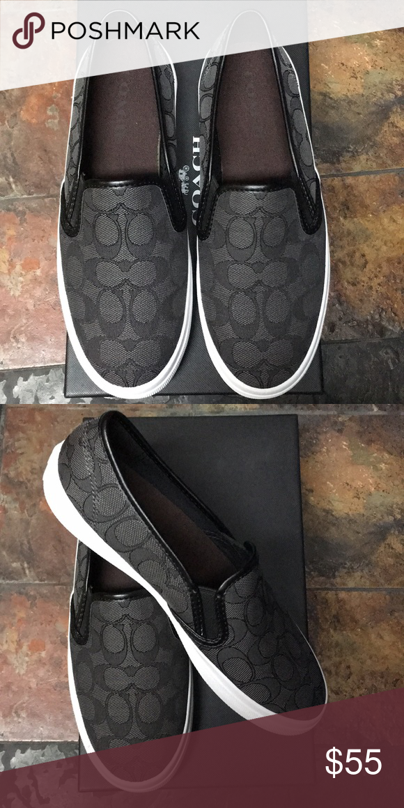 COACH Chrissy Outline Signature Slip On
