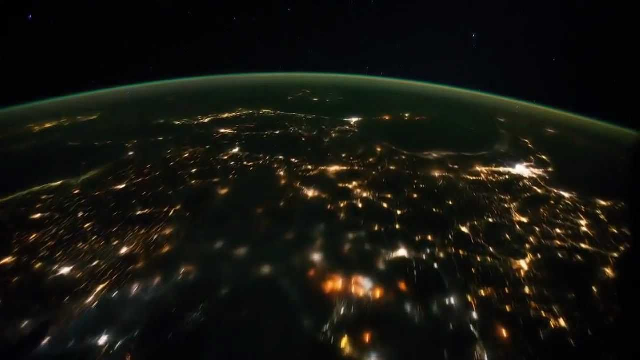 Earth HD Time Lapse View From Space Fly Over NASA ISS - World satellite night view