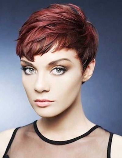 ... this very short pixie hairstyle