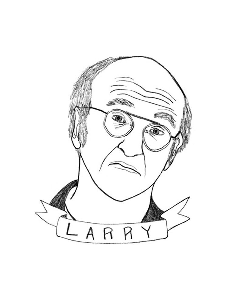 Larry David By Deerdana Buy Exclusively On Tappan Collective Art Larry Inspirational Illustration
