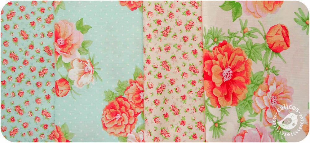 Tecidos florais super românticos.