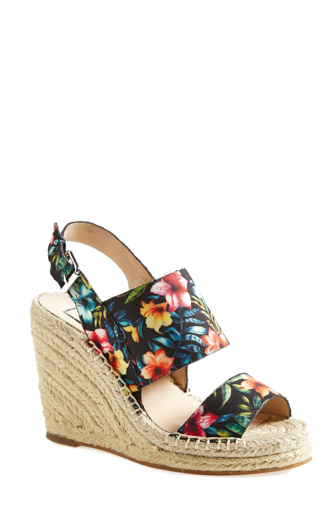 These floral wedge sandals are perfect for spring.