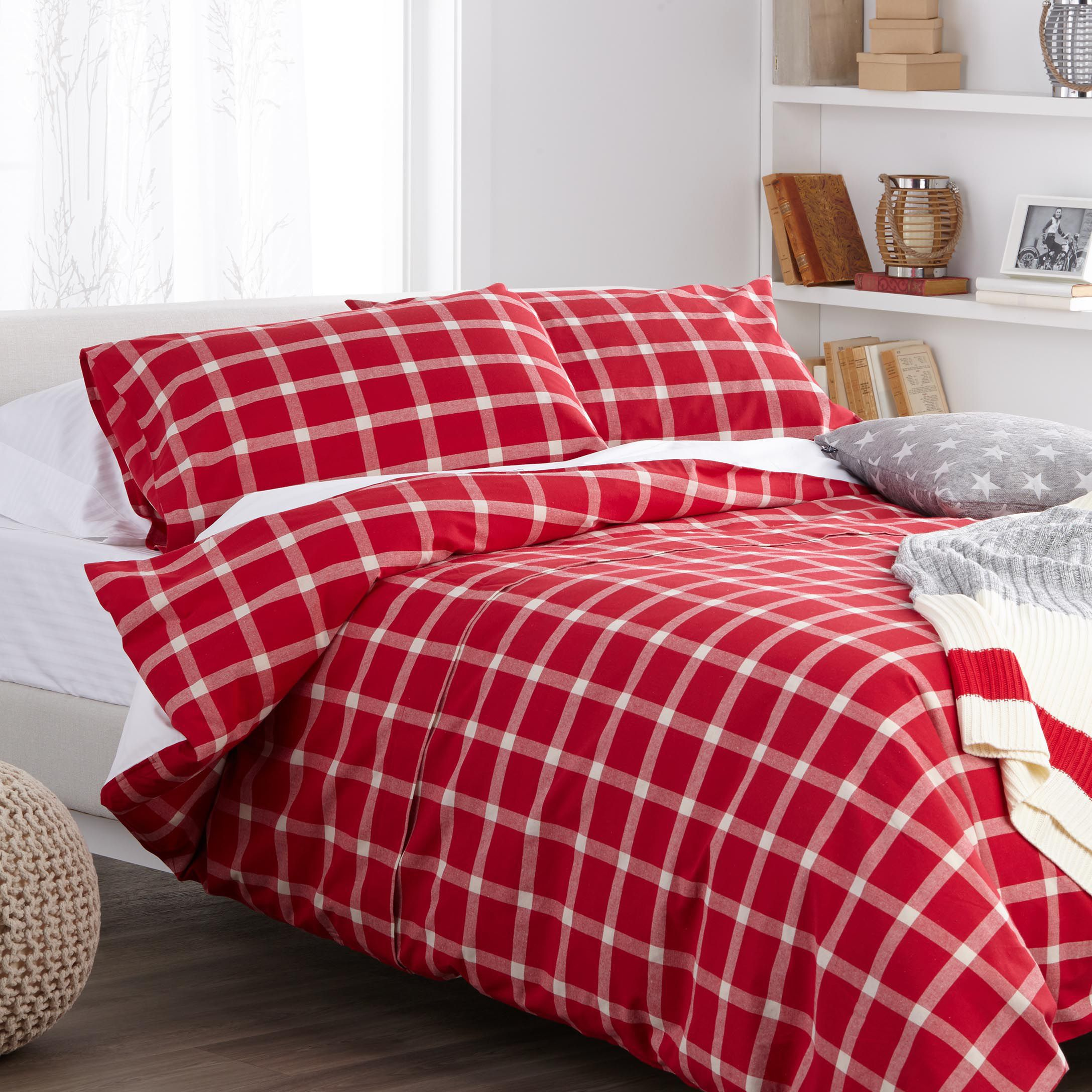 cover pin set king duvet bauer edgewood ease plaid bedding red eddie