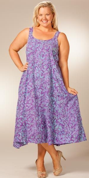 PLUS SIZE BATIK DRESS | Plus Size Sleeveless Batik Long ...