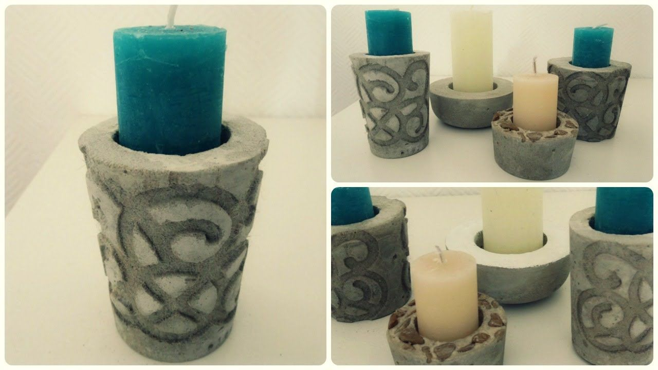 kerzenhalter aus beton 2 diy concrete candle holder. Black Bedroom Furniture Sets. Home Design Ideas