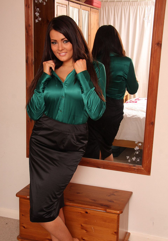 Satin Blouse with Satin Skirt