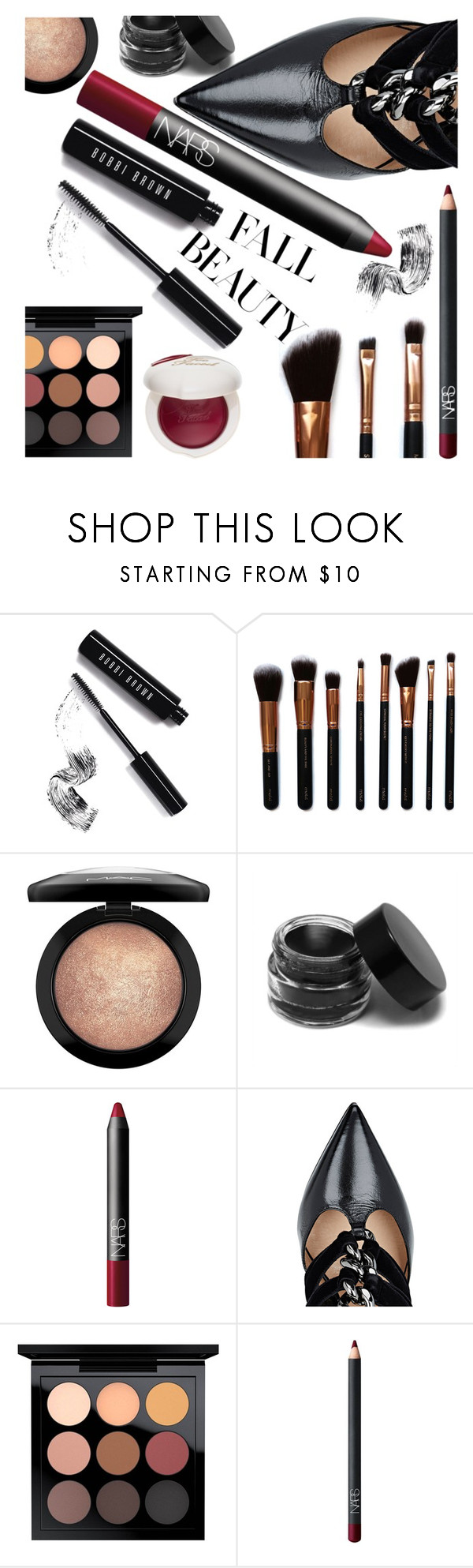 """Untitled #66"" by cndystrpd ❤ liked on Polyvore featuring beauty, Bobbi Brown Cosmetics, M.O.T.D Cosmetics, MAC Cosmetics, NARS Cosmetics, Valentino, Too Faced Cosmetics, Beauty, contestentry and polyvoreeditorial"