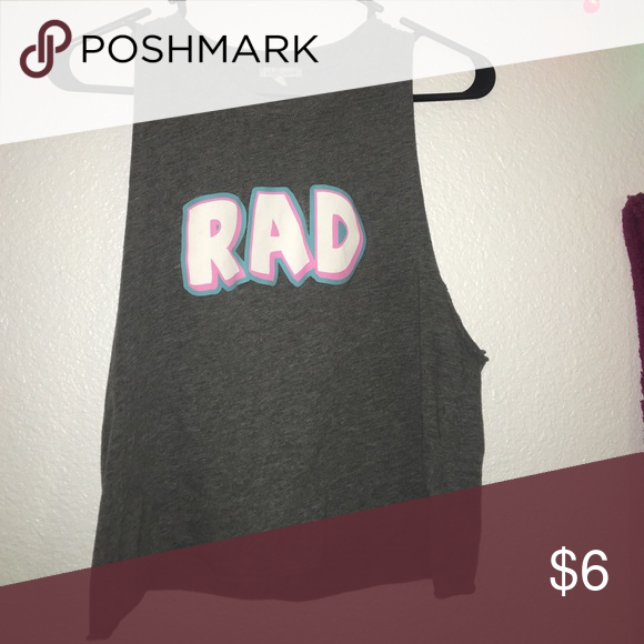 Gray RAD Muscle Tank Brand new w/out tags. Pay through PP Tops Muscle Tees