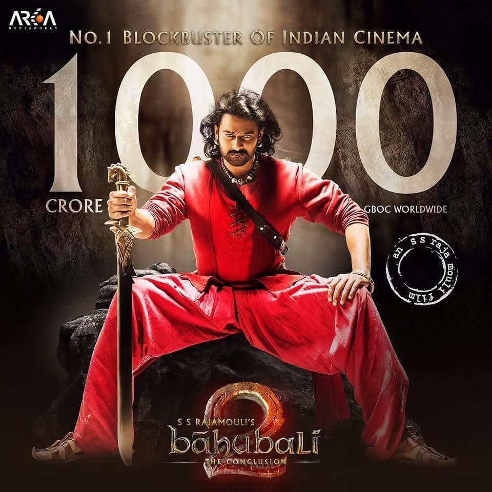 The Poster Says It All Baahubali 2 Crosses 1000 Crore Worldwide No 1 Blockbuster Of Indian Cinema Filmywave Bahubali 2 Full Movie Indian Movies Bollywood