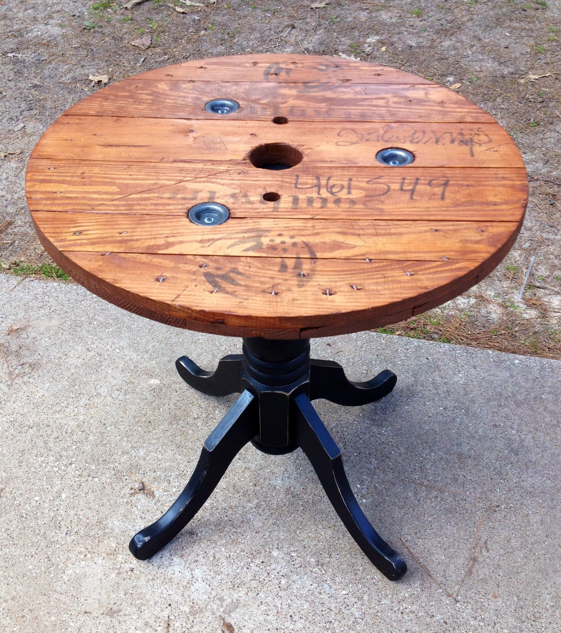 3\' wire spool table   Stuff I\'ve made.....   Pinterest   Wire spool ...