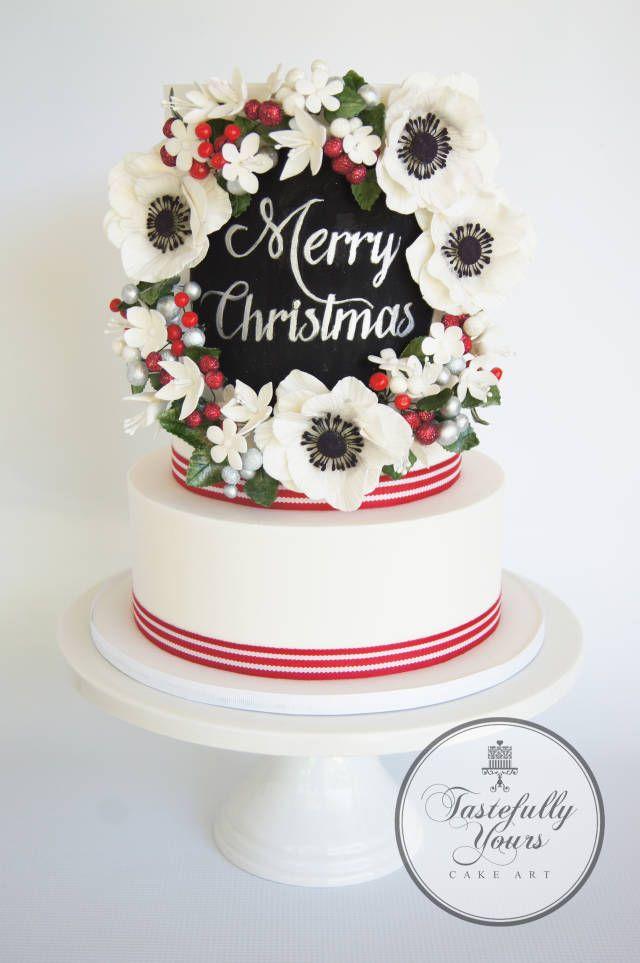 Merry Christmas - Cake by Marianne: Tastefully Yours Cake Art - CakesDecor