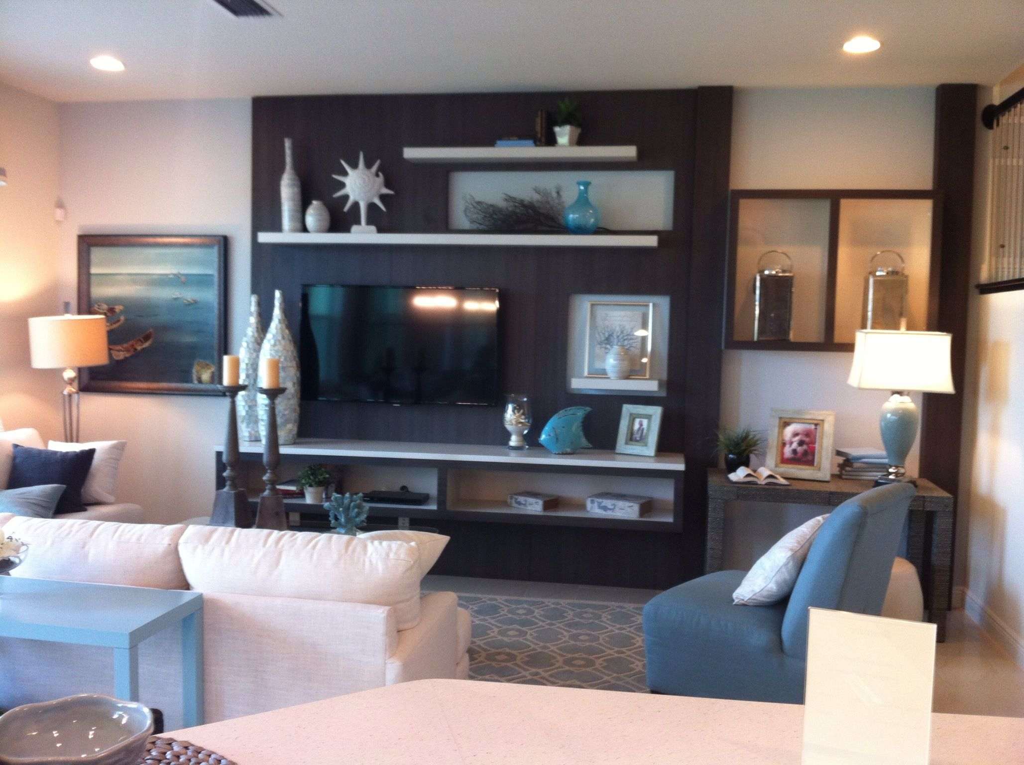 Add An Accent Color In A Large Area Behind The Tv But Maybe Not