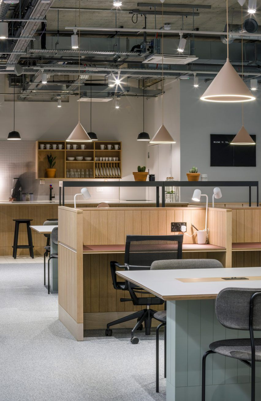 Soda creates clean and simple interiors for thomas house co working office also rh pinterest