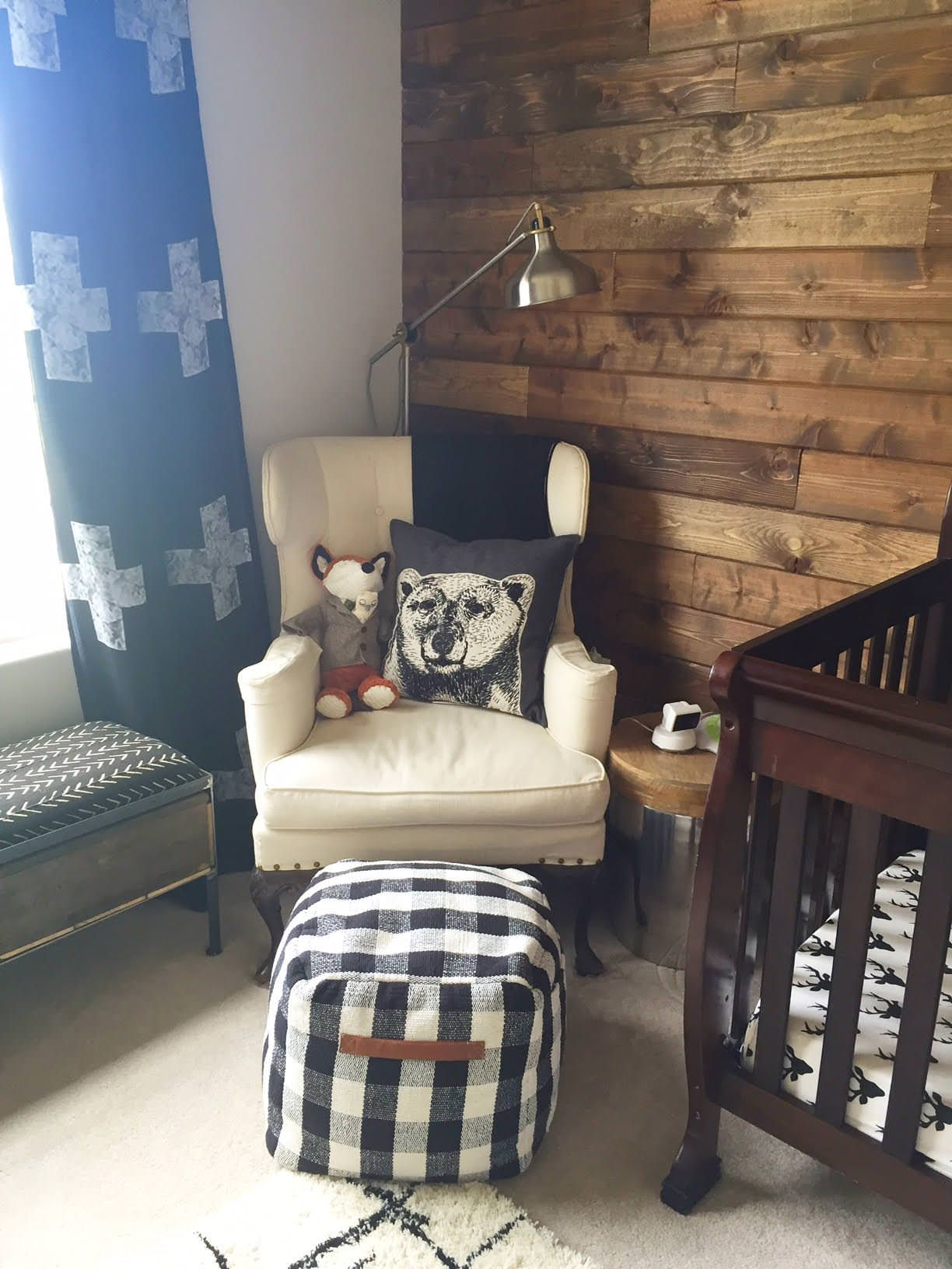 Baby Boy Room Mural Ideas: Woodland Nursery Boy, Rustic