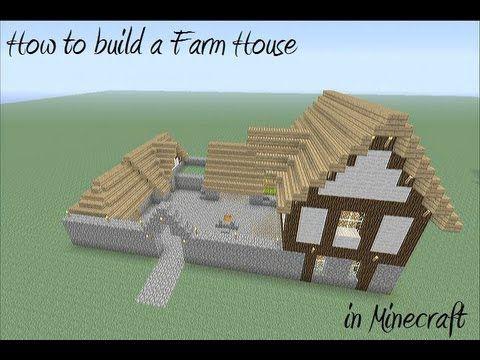 How to build a Farm House in Minecraft #buildingahouse