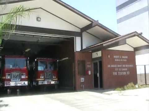 This is the actual L A fire station 127, called station 51 on TV