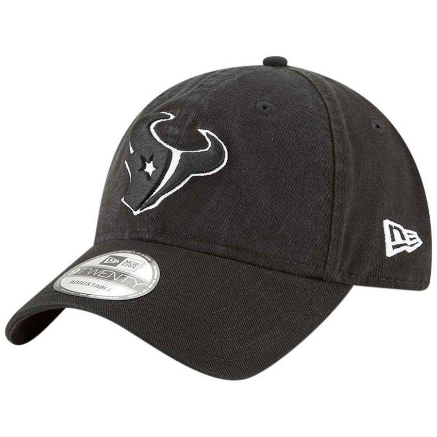 Men s Houston Texans New Era Black Core Classic Primary Logo 9TWENTY Adjustable  Hat 283426c25
