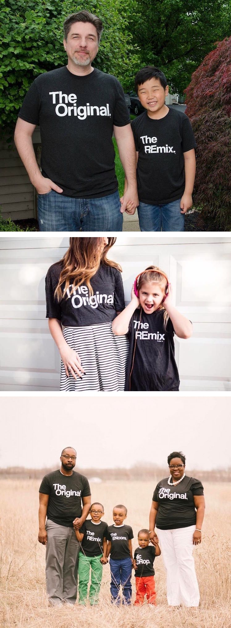 5cf8de31 Clever Pair of T-Shirts Turn Father and Son into 'The Original' and ...