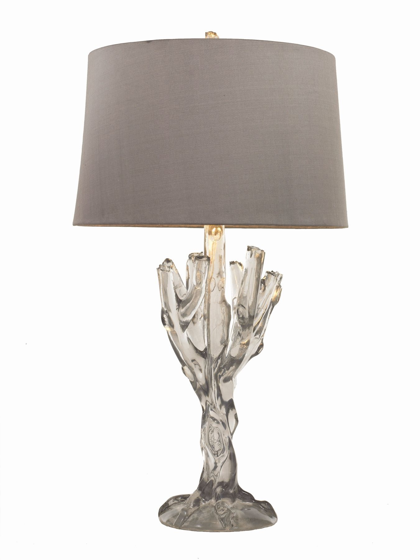 arteriors home smoked ice smithe lamp with silver silk shade style rh pinterest com