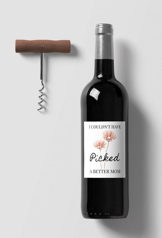 Free Printable Wine Bottle Gift Label For Mom This Mother S Day