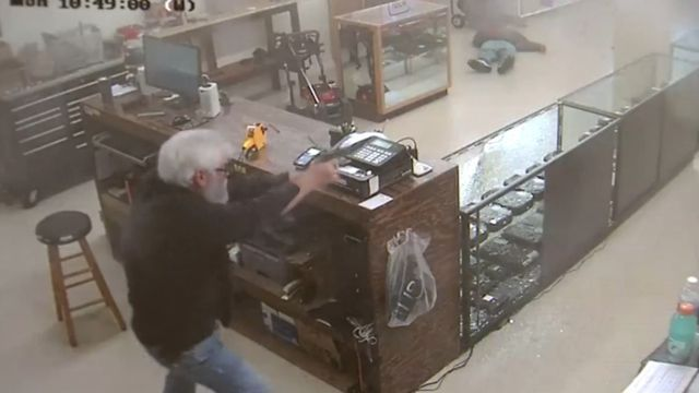 WATCH: Gun store owner shoots, kills armed robber
