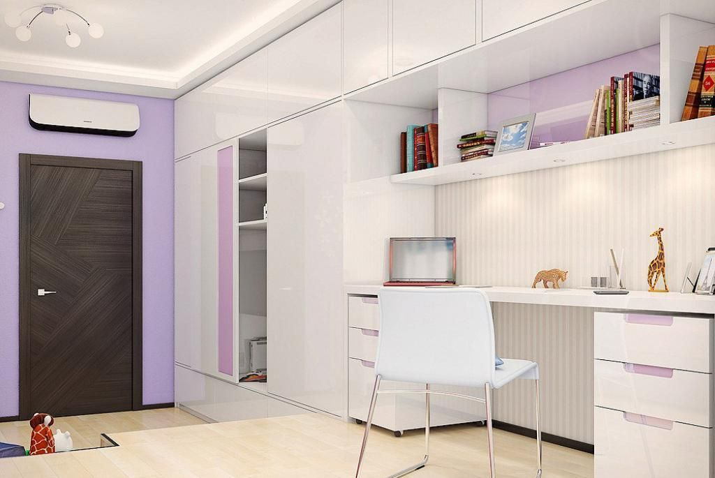Study Table Cupboard Designs study table and cabinet Enchanting Light Kids Bedroom Design With Lighting Chandelier In Ceiling As Well White Gloss Cabinet And
