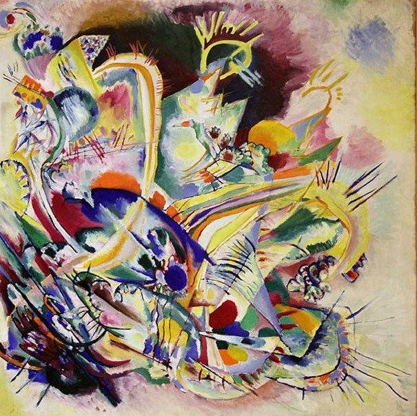 UNTITLED IMPROVISATION V, 1914 Oil on canvas Tel Aviv. Israel. Tel Aviv Museum of Art #kandinsky #kandinski #kandinskij #abstraction #abstractart http://www.wassilykandinsky.net/work-733.php