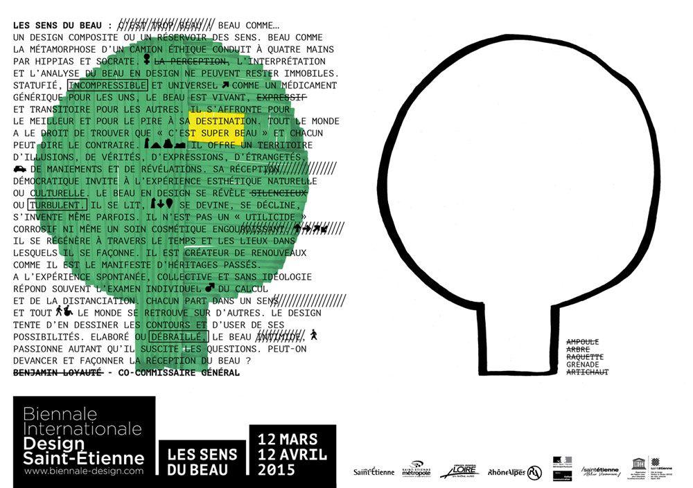 Biennale Internationale du Design de Saint-Etienne 2015 : Sylvain Reymondon et Lucas Ribeiro (étudiants ESADSE)